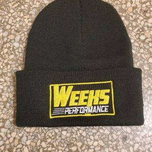 Weeks Performance Beanie With logo keep those ears warm with a Weeks Performance Beanie
